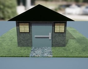 Barrack 3D model game-ready