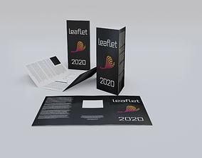 Leaflets booklets 3D model