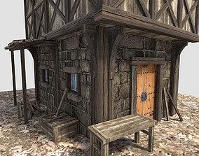 medieval city house 3D