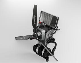3D model Light Aicraft Engine - Bombardier Rotax 582