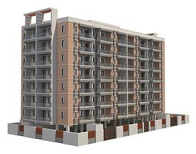 exterior 3D model Apartment Building 14
