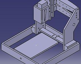 3D model 3 axis desktop router