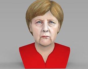 Angela Merkel bust ready for full color 3D printing