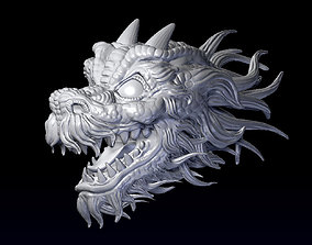 Dragon head 3D printable model