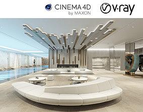 VRay - C4D Scene files - LUXURY RESIDENTIAL POOL 3D