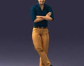3D Man in a sitting position 0175