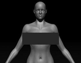 3D asset Female Base mesh