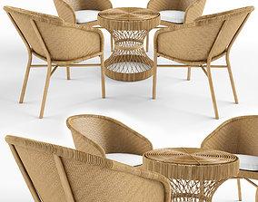 3D natural rattan furniture