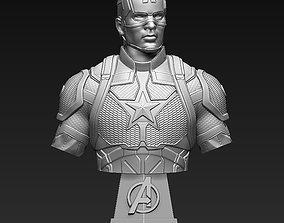 3D printable model sculptures Captain America Bust