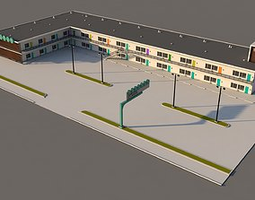 Mid Century Motel 3D model