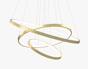 3D model Modern Circular Led Chandelier ceiling