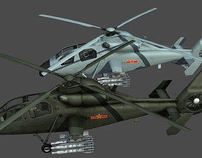 3D asset pla China PLA Army WZ-19 Attack helicopter