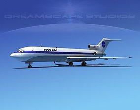 3D model Boeing 727-200 Pan Am 1