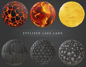 Stylized Lava Land 3D model