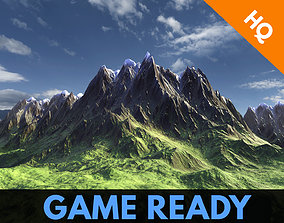 3D asset Low Poly Modular Mountain Model PBR Unity Game 1