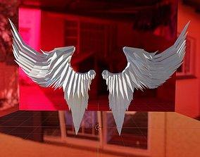 3D asset Angel Wings Lowpoly Model