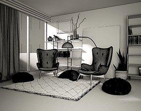 3D printable model living room