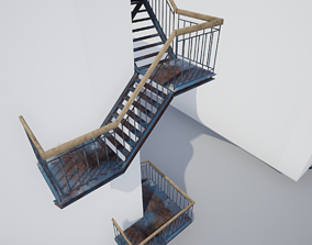 Building Stairs Modular Pack - UE4 ready - Low 3D model 3