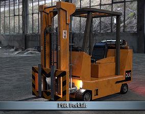 3D asset PBR Forklift