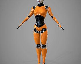 3D Robotic girl