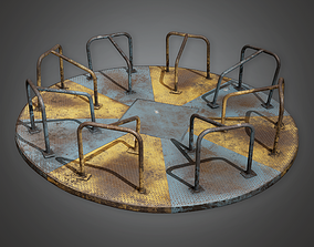 3D model PAP - Abandoned Merry Go Round - PBR Game Ready