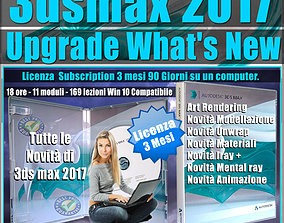 Corso 3ds max 2017 Upgrade What New 3 mesi tutorial
