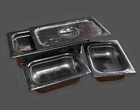 Kitchen Serving Set Pans KTC - PBR Game Ready 3D asset