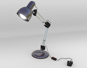 Table lamp 3D asset animated