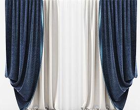 Curtains Classic Blue 3D model