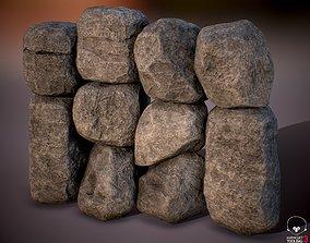 3D asset Boulder Rock Set 4K