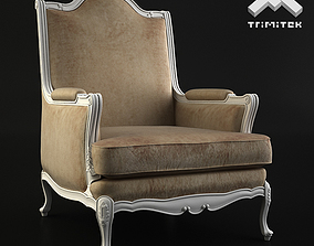 Classic Armchair - Moses - Beige 3D