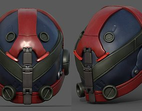 Helmet military Scifi futuristic technology 3D model
