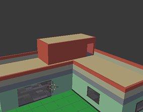 L-SHAPED HOUSE FREE FIRE 3D model