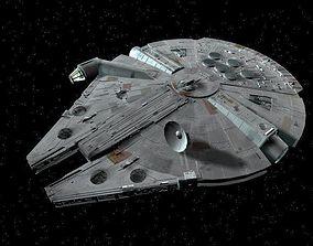 Millennium Falcon 3D model rigged spaceship