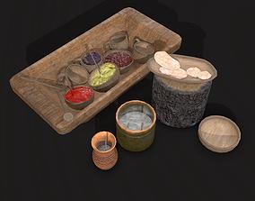Medieval Bowls of Food 3D asset