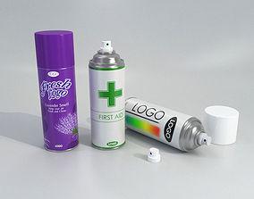 Spray Can Bomb Aerosol Set - 3D