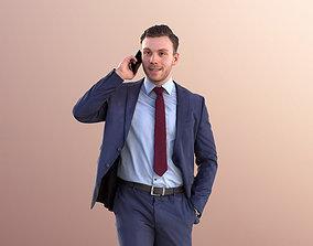 3D asset Robb 10949 - Business Man Talking On Phone