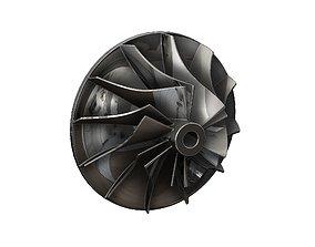 Turbocharger inlet 3D printable model
