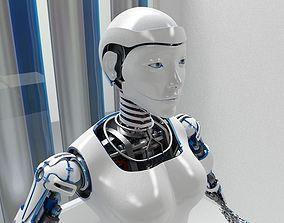 3D asset Robot woman D2016