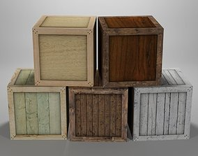 Wooden Crate Pack 1 3D model