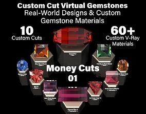 3D Money Cuts 01 - Custom Cut Gemstones and Custom V-Ray 1