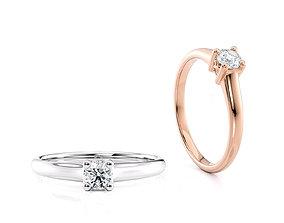 Engagement X ring printable model