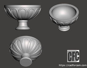 Decorative vase - 3d model for CNC - DecorativeVase002