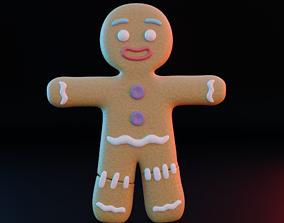 Gingerbread man 3D asset