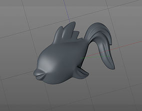 printable 3D model fish goldfish