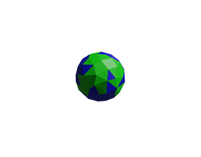 space low poly earth model