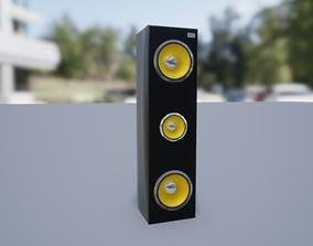 Speaker Low-poly 3D model realtime