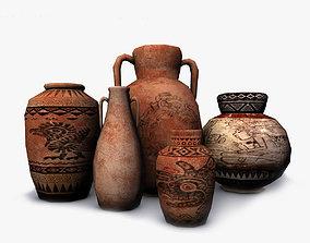 3D model Low poly aztec pottery