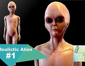 3D model Realistic Alien 1