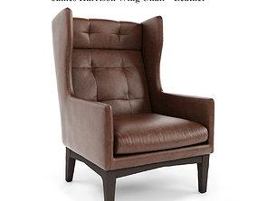 3D West Elm - James Harrison Wing Chair - Leather